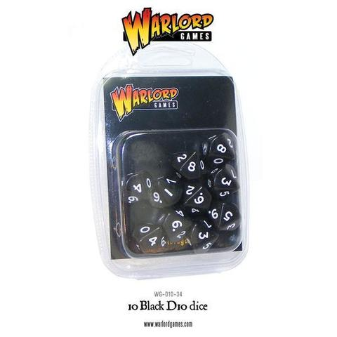 Warlord D10 Dice Pack - Black (10)