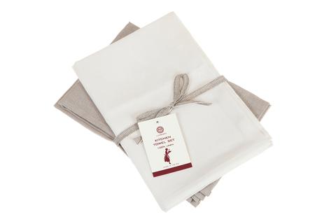Набор полотенец 2 шт Luxberry Timeless белый/натуральный