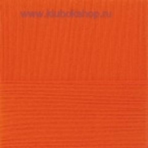 Пряжа Бисерная Ярко-оранжевый 189 (Пехорка).