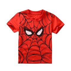 Человек паук футболка детская красная