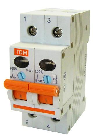 Выключатель нагрузки (мини-рубильник) ВН-32 2P 100A TDM