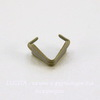 Держатель кулона 6х5х3 мм (цвет - античная бронза) , 5 штук