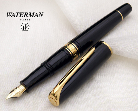 S0700980 Waterman Charleston Ebony Black GT Перьевая ручка