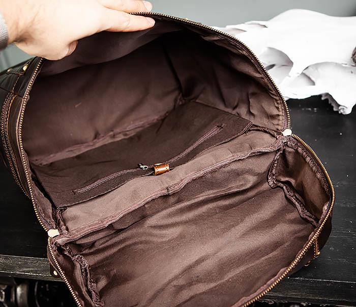 BAG461-2 Большой мужской рюкзак из натуральной кожи фото 16