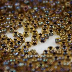 0276 Бисер японский TOHO 11/0, окрашен изнутри радужный топаз/золото