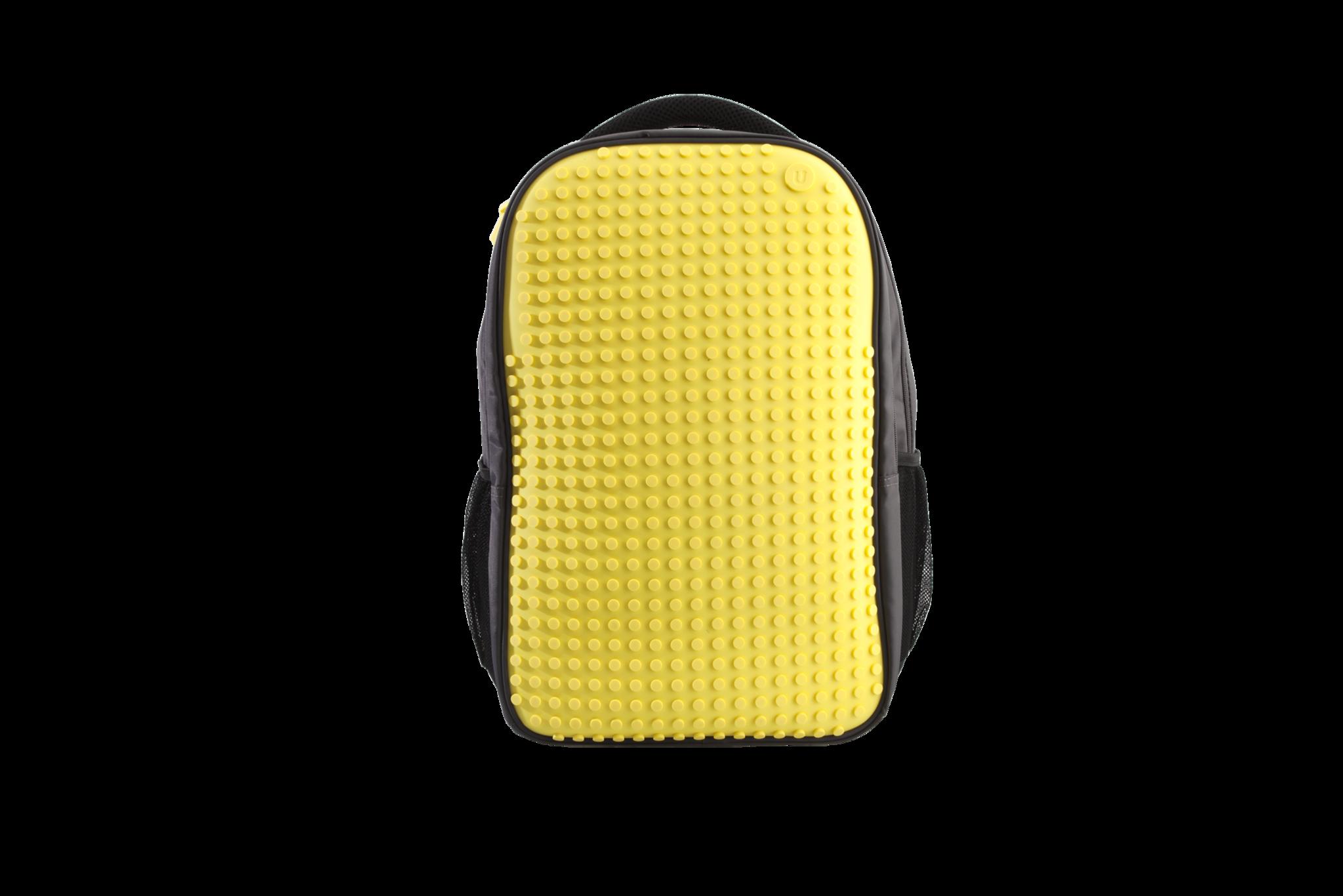 Школьный пиксельный рюкзак Full Screen желтый