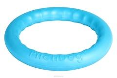 Игрушка для собак игровое кольцо для аппортировки d 28 голубое, PitchDog 30