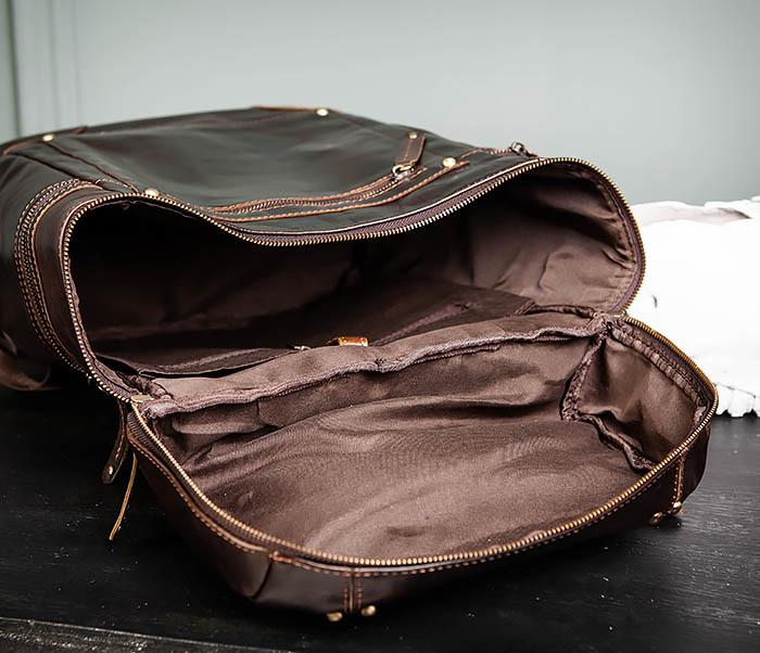 BAG461-2 Большой мужской рюкзак из натуральной кожи фото 17