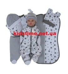 Набор одежды для новорожденного в роддом Звездочка белый