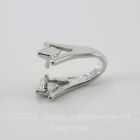 Держатель для кулона (цвет - платина) 15х8х6 мм