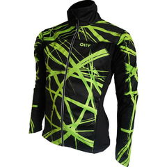 OLLY BRIGHT SPORT лыжная куртка салатовые полосы