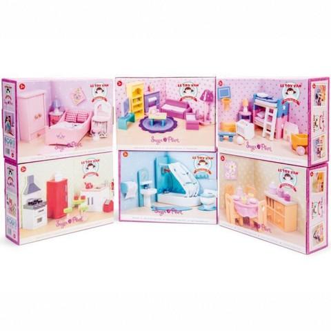 Набор кукольной мебели 6 комнат Сахарная слива, Le Toy Van