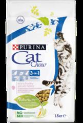 Корм для кошек, Purina Cat Chow Feline 3in1, Тройная защита, с домашней птицей и индейкой