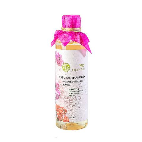 Шампунь с AHA-кислотами Ламинирование волос   Organic Zone