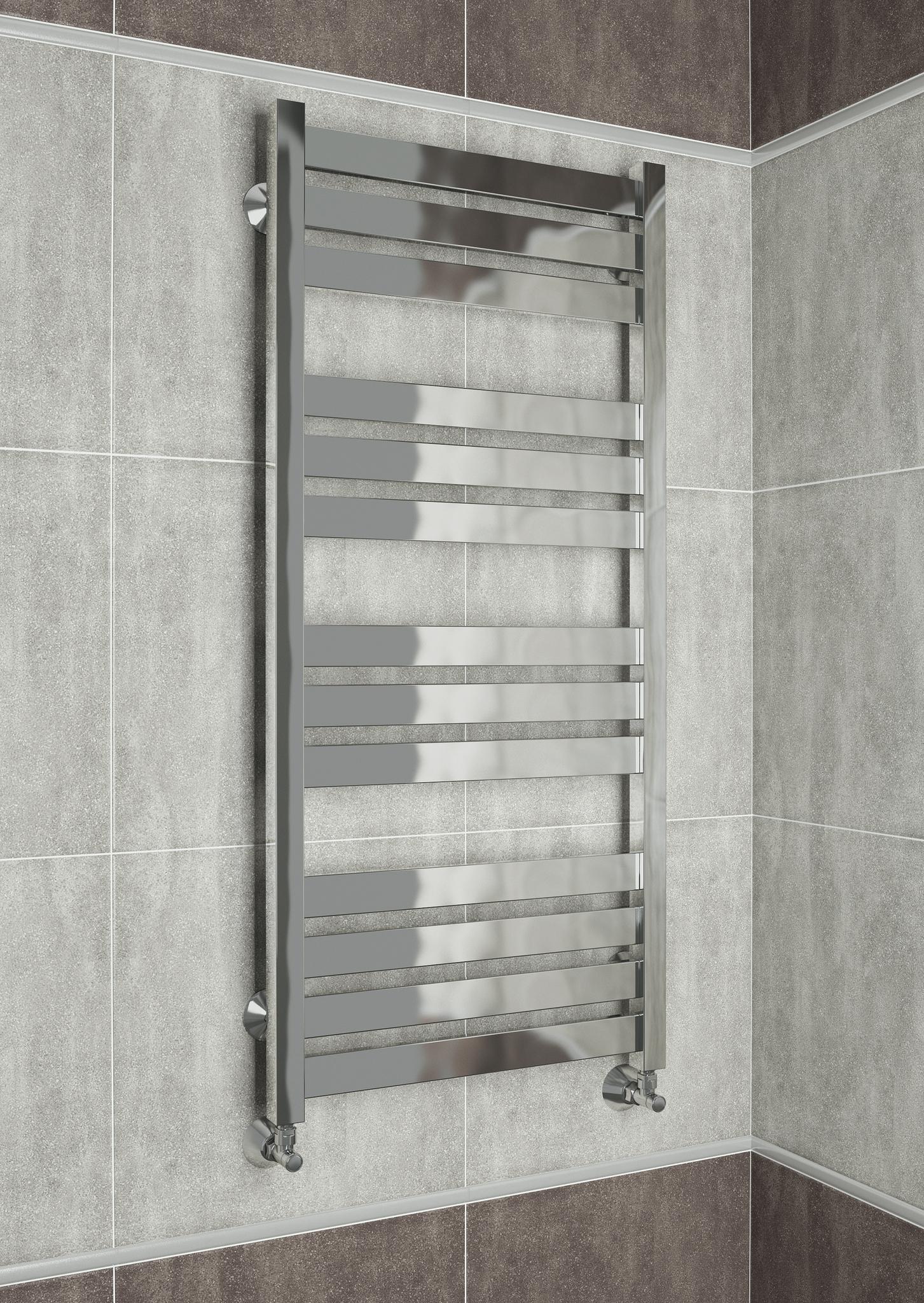 Latte  - водяной дизайн полотенцесушитель с квадратными вертикалями.