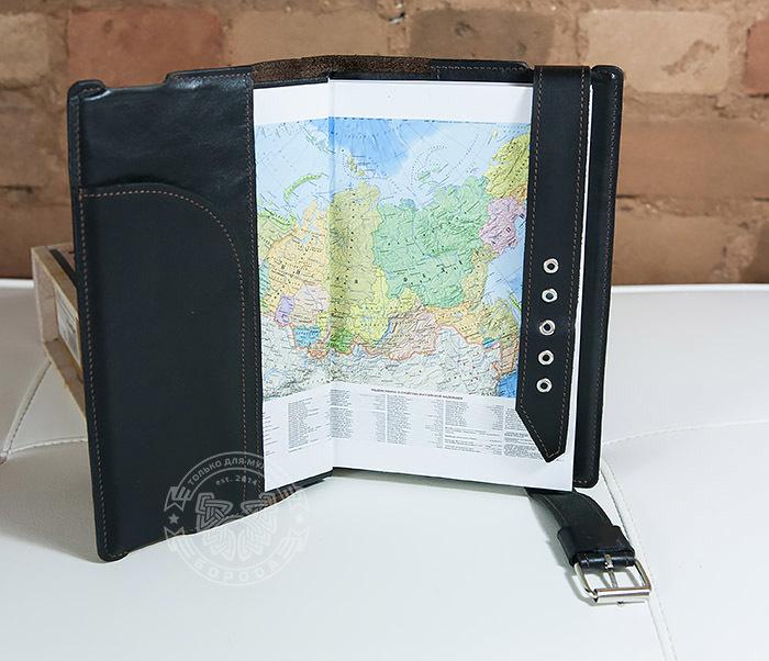 BC120-2 Мужской подарочный ежедневник ручной работы с гербом на обложке фото 06