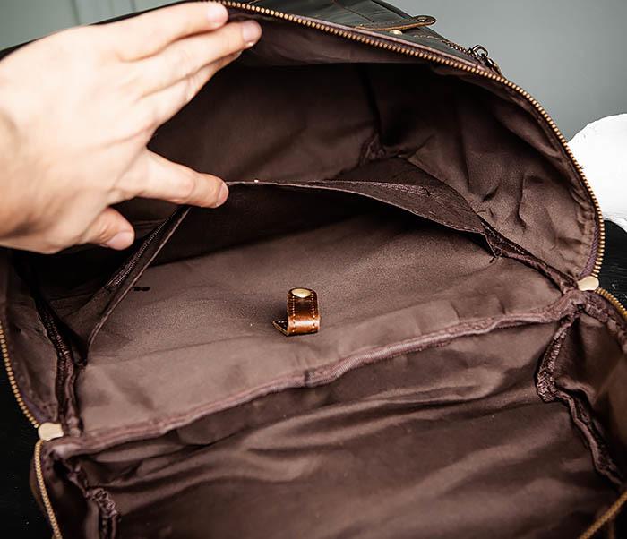 BAG461-2 Большой мужской рюкзак из натуральной кожи фото 18