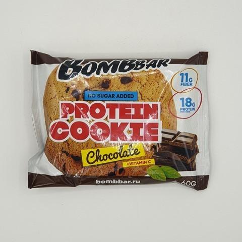 Печенье протеиновое вкус Шоколад BOMBBAR, 60 гр