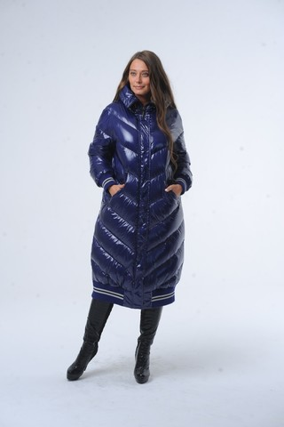 Куртка для беременных 11017 сине-серый