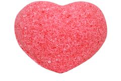 Бурлящее сердечко для ванн красное (с маслами), 50g ТМ Savonry