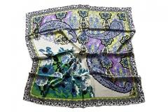 Итальянский платок из шелка цветной с рисунком 0427