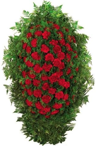 Траурный венок из живых цветов ВЖ 09 -120 см