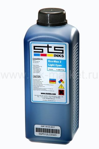 Чернила STS Low-Solvent, светло-голубые (Light Cyan), 1000 мл