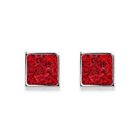 Серьги Coeur de Lion 0117/21-0300 цвет красный, серебряный