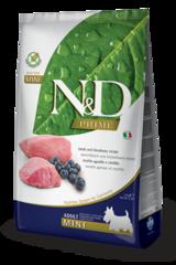 Корм для собак мелких пород, Farmina N&D Lamb & Blueberry Adult Mini, с ягненком и черникой