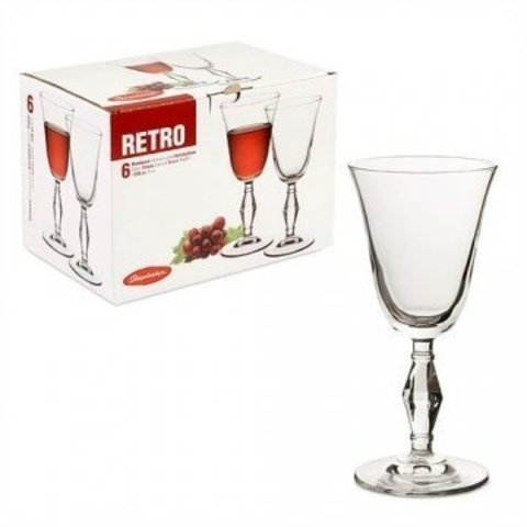 Ретро бокал для вина 236 ml 6*4 ;