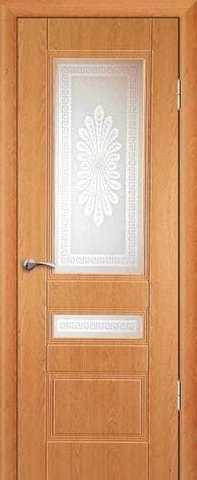 Дверь Сибирь Профиль Фантазия, цвет миланский орех, остекленная