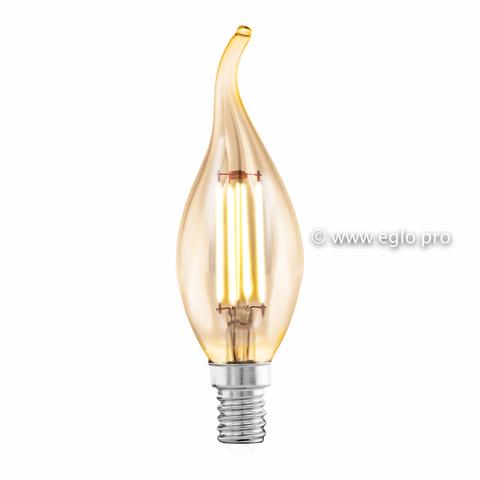 Лампа Eglo филаментная янтарь LM LED E14 (DECO ITEMS) CF35 2200K 11559