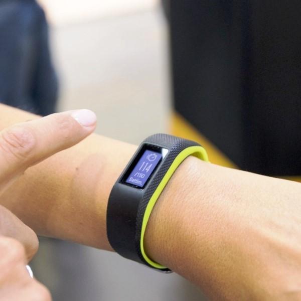 Фитнес-браслет с пульсометром Vivosport лимонный большого размера