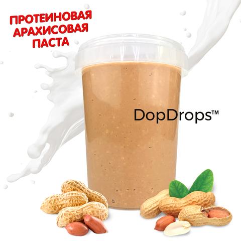 DopDrops Протеиновая Арахисовая Паста 1000г [без добавок], пластик