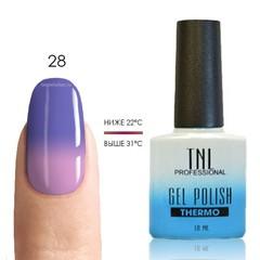 Термо гель-лак TNL 28 - темно-пурпурный/светло-лиловый, 10 мл