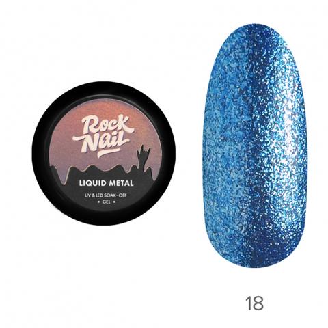 Гель-краска RockNail Liquid Metal 18 Magnetism