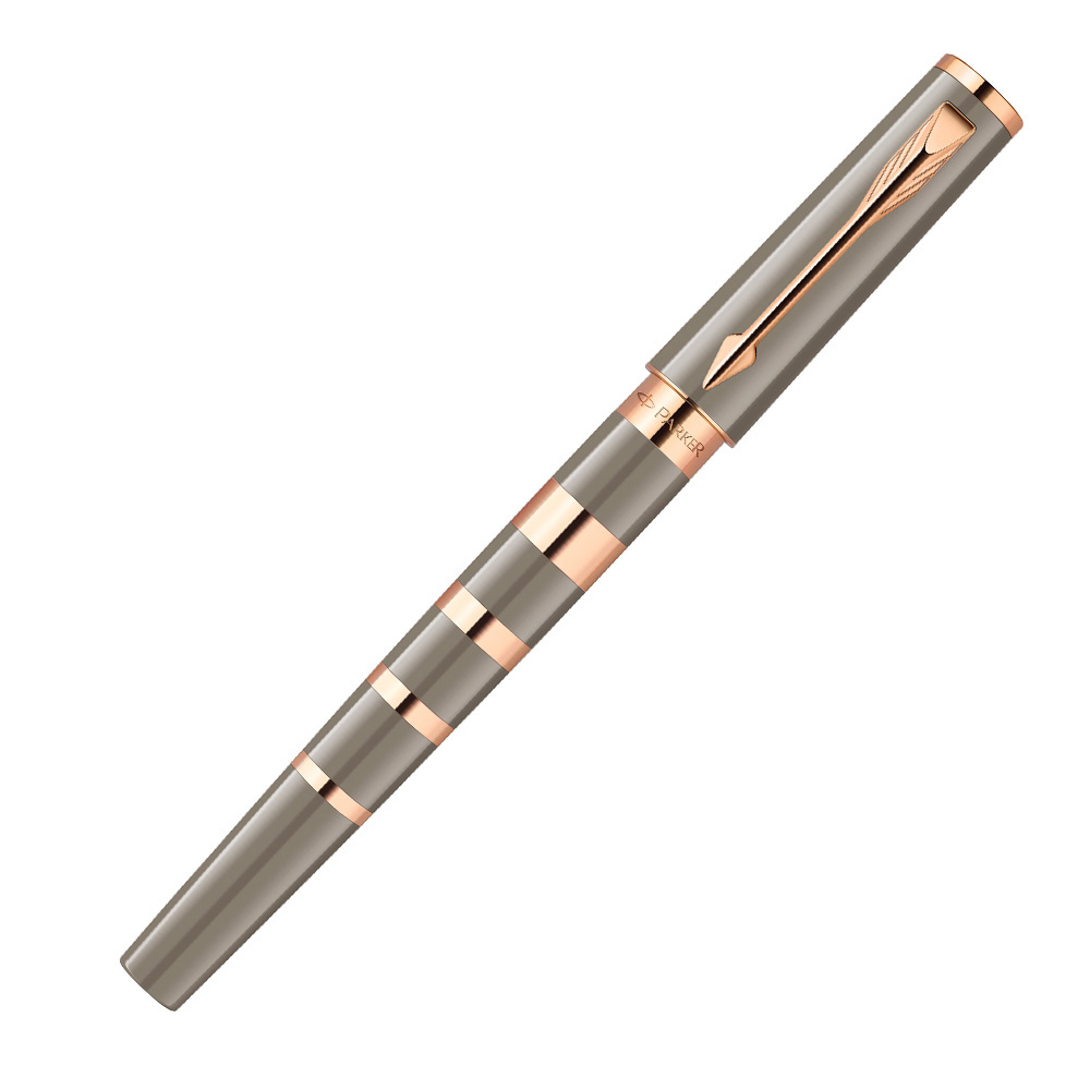 Parker Ingenuity - F Taupe & Metal Pink Gold PVD GT, ручка 5th пишущий узел, F, BL