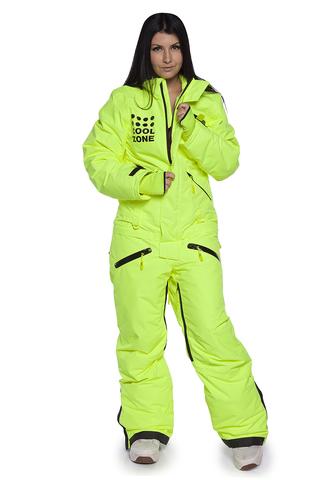 COOL ZONE FOX женский сноубордический комбинезон салатовый
