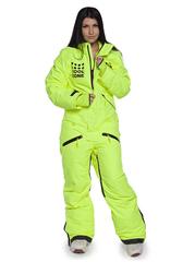 Женский сноубордический комбинезон Cool Zone Fox 3427 салатовый