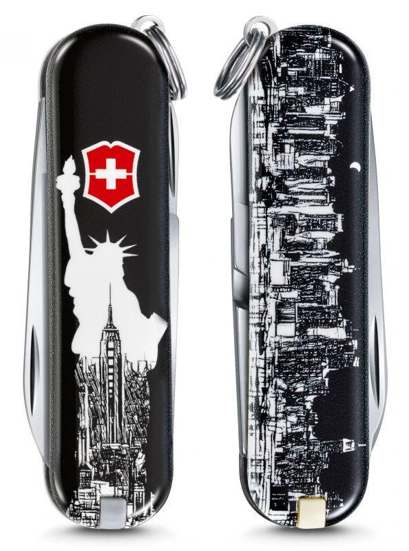 "Нож-брелок Victorinox Classic LE 2018, 58 мм, 7 функций, ""New York"""