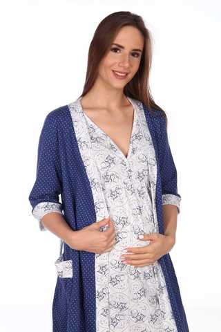 Мамаландия. Комплект для беременных и кормящих, темно синий/малыши большие размеры