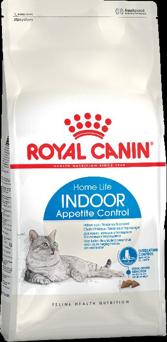 Кошки Корм для кошек, Royal Canin Indoor Appetite Control,  склонных к перееданию, живущих в помещении, в возрасте от 1 года до 7 лет 16_indoor_appetite_control_b1_in_packaging_packshots_000006_2.png