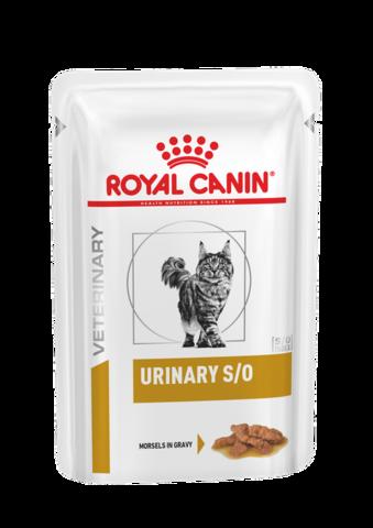 Royal Canin Urinary S/O пауч для кошек с проблемами МПС соус 85г