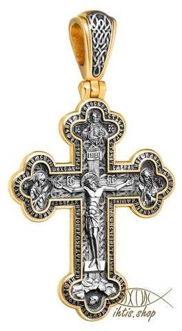 Распятие Христово с Архангелами. Господь Вседержитель. Молитва Да воскреснет Бог. Валаамская икона.