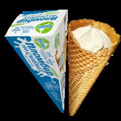 """Мороженое """"Пломбир на сливках"""" рожок ванильный 90 г"""