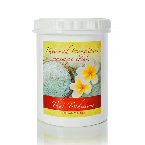 Thai Traditions Крем для массажа Рис и Франжипани Rice and Frangipani massage cream 1000мл