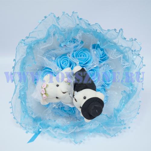 Букет свадебный — Голубой