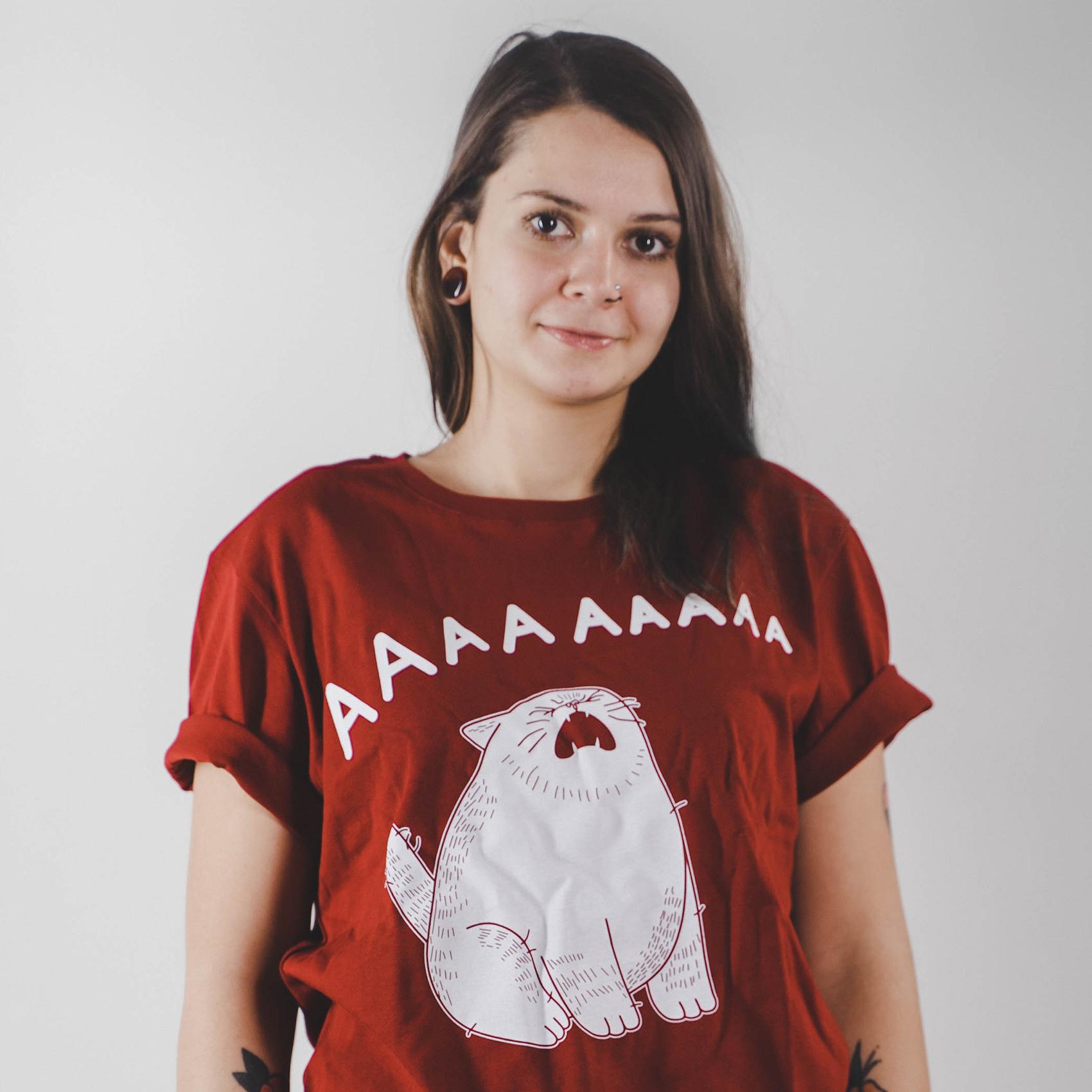Кот ААААААА / футболка