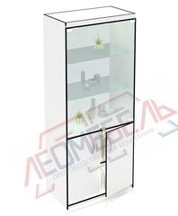 В-206-С Витрина стеклянная задняя стенка стекло