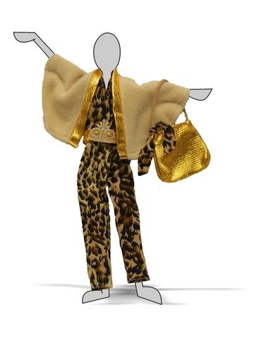 Комплект с накидкой - Демонстрационный образец. Одежда для кукол, пупсов и мягких игрушек.